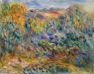 Pierre-auguste Renoir Painting - Landscape At Montagne by Pierre-Auguste Renoir