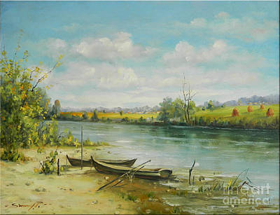 Landscape From Delta Dunarii Print by Petrica Sincu