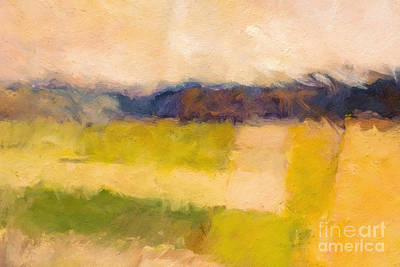 Abstract Impression Painting - Landscape Impression by Lutz Baar