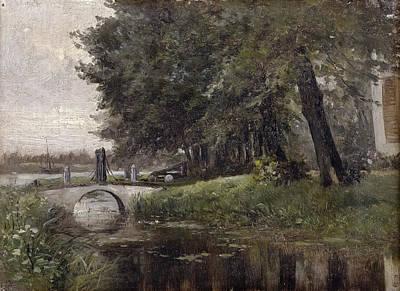 Landscape In Nijmegen. Netherlands Print by Carlos de Haes