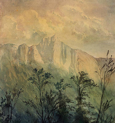 Landscape In The Vosges Print by Gustave Dore