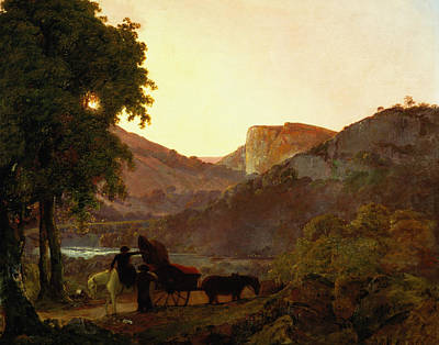 Horse And Cart Painting - Landscape by Joseph Wright of Derby