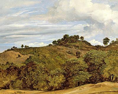 1822 Painting - Landscape Near Olevano by Heinrich Reinhold