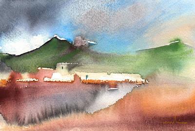 Lanzarote Painting - Landscape Of Lanzarote 04 by Miki De Goodaboom