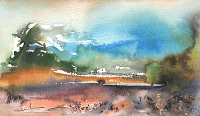Lanzarote Painting - Landscape Of Lanzarote 05 by Miki De Goodaboom