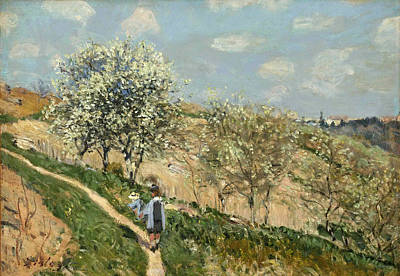Alfred Sisley Painting - Landscape. Spring At Bougival by Alfred Sisley