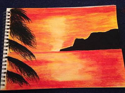 Landscape Sunset Print by  Jessica Hope
