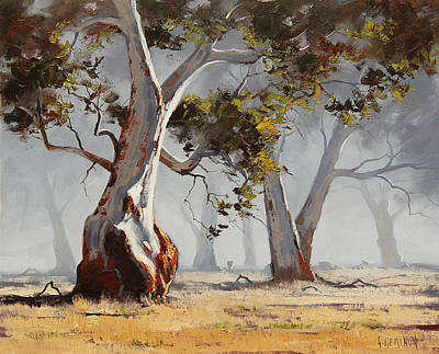 Realist Painting - Landscape Trees by Graham Gercken