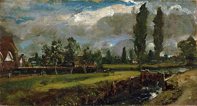 John Constable Painting - Landscape With A River by John Constable