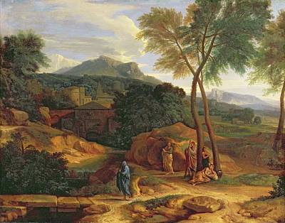 Landscape With Conopion Carrying Print by Jean Francois I Millet