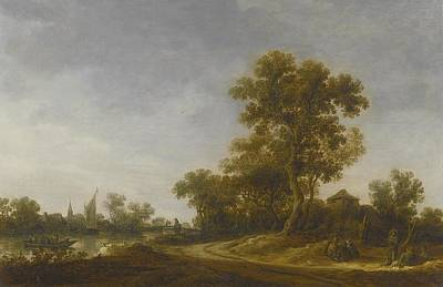Landscape With Travellers Print by Celestial Images