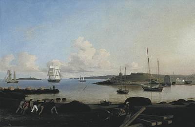 Hudson River School Photograph - Lane, Fitz Hugh 1804-1865. The Fort by Everett