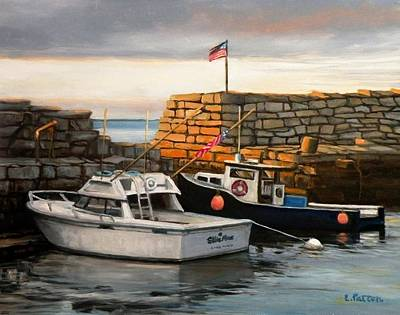 Lanes Cove Fishing Boats Original by Eileen Patten Oliver