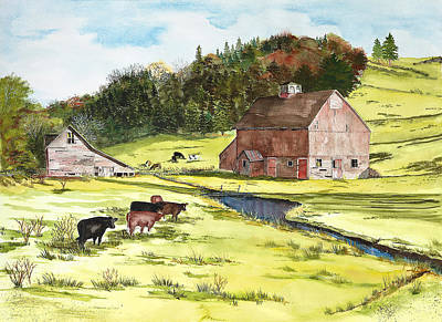 Lanesboro Barn Print by Susan Crossman Buscho