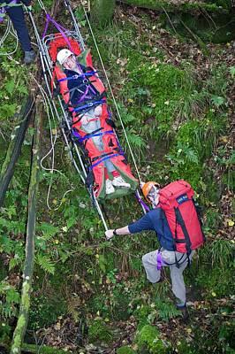 Langdale Ambleside Mountain Rescue Print by Ashley Cooper