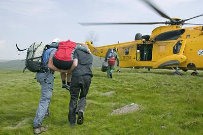 Langdale Ambleside Mountain Rescue Team Print by Ashley Cooper