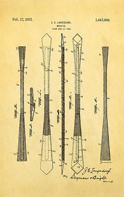 Langsdorf Necktie Patent Art 1923 Print by Ian Monk