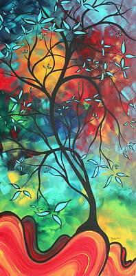 Languishing In The Breeze Original Art Madart Print by Megan Duncanson