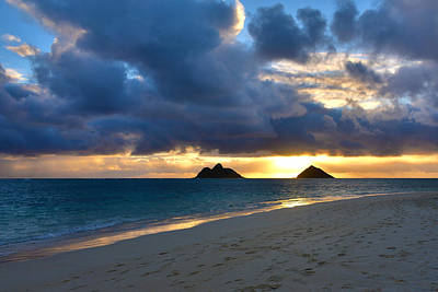 Lanikai Beach Sunrise 3 - Kailua Oahu Hawaii Print by Brian Harig