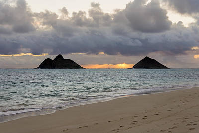 Lanikai Beach Sunrise 4 - Kailua Oahu Hawaii Print by Brian Harig
