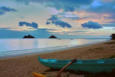 Lanikai Beach Sunrise 6 - Kailua Oahu Hawaii Print by Brian Harig