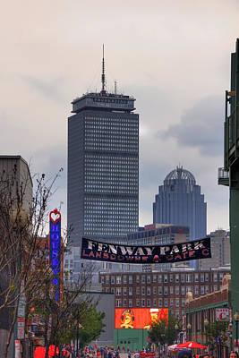 Boston Red Sox Photograph - Lansdowne Street - Fenway Park by Joann Vitali