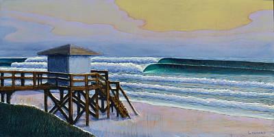 Woodcarving Painting - Lantana Lifeguard Stand by Nathan Ledyard