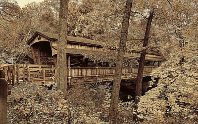 Mill Photograph - Lanterman's Covered Bridge by Marcia Colelli