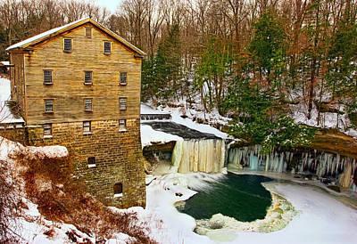 Creek Photograph - Lanterman's Grist Mill by Marcia Colelli