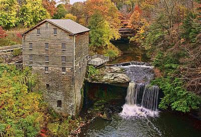 Lanterman's Mill And Bridge Print by Marcia Colelli