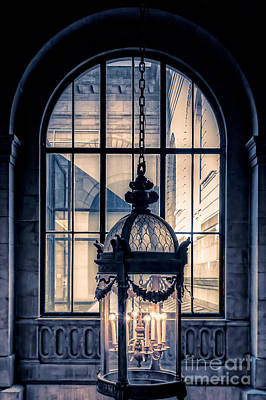 Library Photograph - Lantern And Arched Window by Edward Fielding
