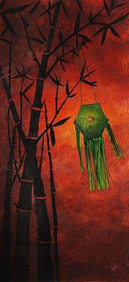 Buddhist Painting - Lantern by Nirdesha Munasinghe