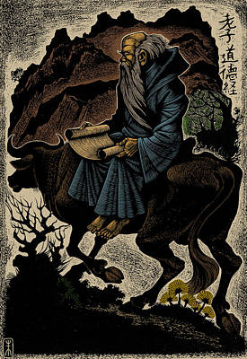 Print featuring the photograph Laozi, Ancient Chinese Philosopher by Science Source