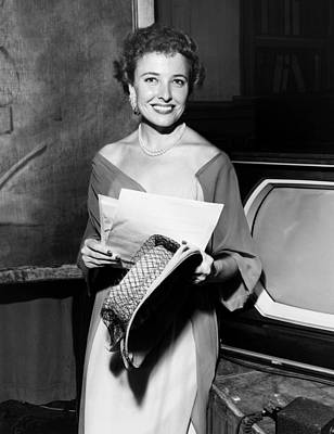 1950s Candids Photograph - Laraine Day, On The Set Of Her Talk by Everett