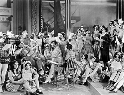 Of Woman Photograph - Large Group Of Women Singing by Underwood Archives