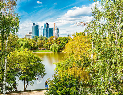 Large Novodevichy Pond Of Moscow - 4 Print by Alexander Senin