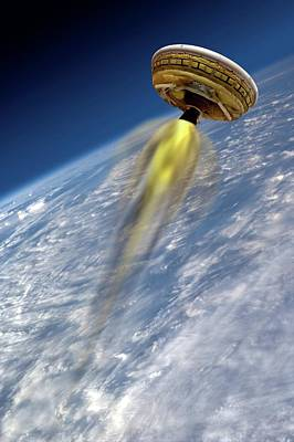 High Speed Photograph - Large Payload Landing Test Vehicle by Nasa/jpl-caltech
