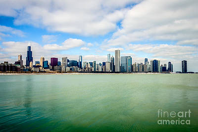 Large Picture Of Downtown Chicago Skyline Print by Paul Velgos