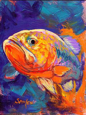 Largemouth Bass Study Original by Savlen Art