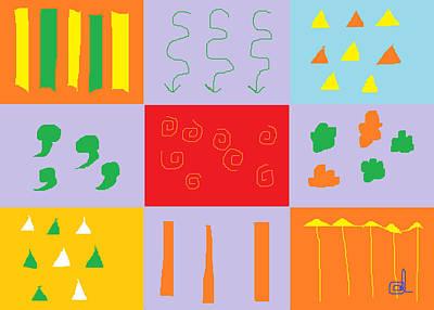 Abstract Digital Drawing - Larnaca Shop Window 9 by Anita Dale Livaditis