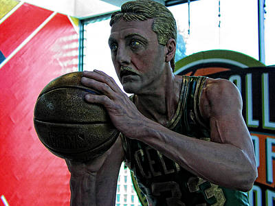 Larry Bird Photograph - Larry Bird At Hall Of Fame by Mike Martin