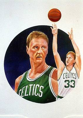 Larry Bird Mixed Media - Larry Bird by Michael Sanseverino