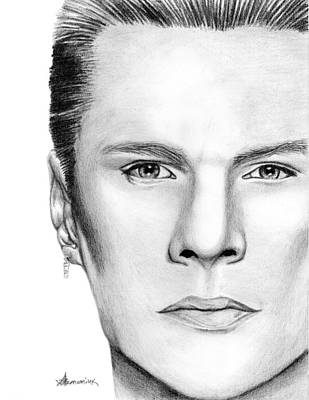 Drum Drawing - Larry Mullen Jr. by Kayleigh Semeniuk