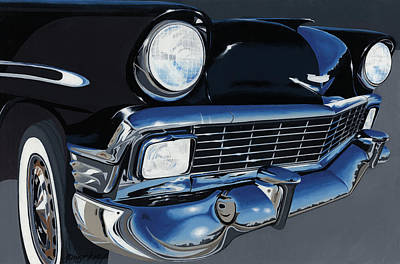 Chevy Painting - Larry's '56 Bel Aire by John Wyckoff