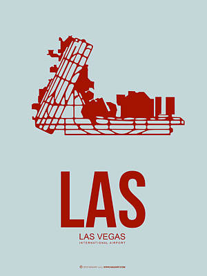 Capital Cities Digital Art - Las Las Vegas Airport Poster 3 by Naxart Studio