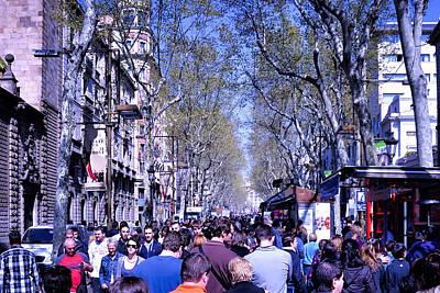 Las Ramblas - Barcelona Spain Print by Jon Berghoff