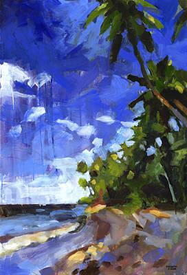 Impressionistic Landscape Painting - Las Terrenas Afternoon by Douglas Simonson