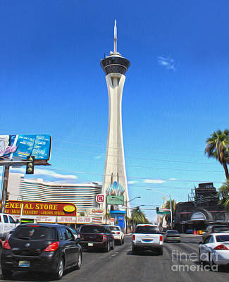 Las Vegas - Stratosphere Print by Gregory Dyer