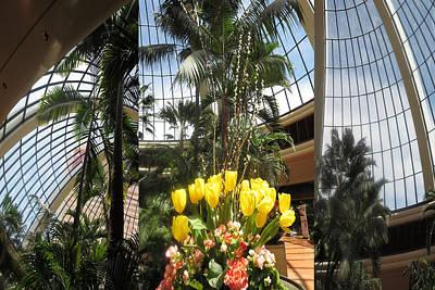 Champion Mixed Media - Las Vegas Attrium Architecture N Interior Decorations Casinos Resorts Hotels Flowers Sky Green Signa by Navin Joshi