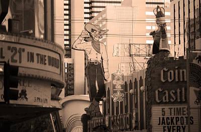 Glitter Gulch Photograph - Las Vegas Downtown 5 by Frank Romeo